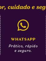 Ao lado, temos o título: WhatsApp, prático, rápido e seguro.