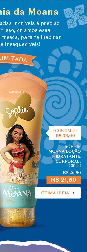 SOPHIE MOANA LOÇÃO HIDRATANTE CORPORAL, 200 ml De R$ 26,90 Por R$ 21,50 Com o botão: Ótima ideia!
